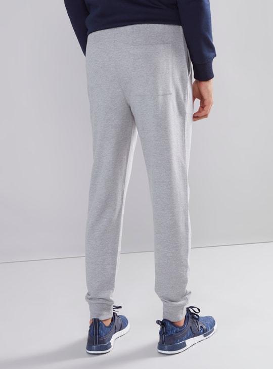 Slim Fit Plain Jog Pants with Pocket Detail