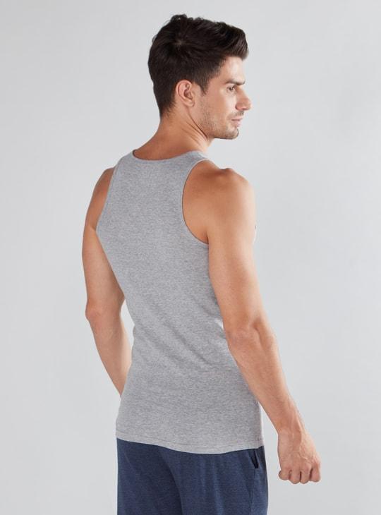 Set of 2 - Plain Vest with Scoop Neck