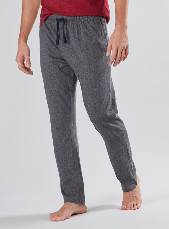 Full Length Striped Pyjamas with Pocket Detail