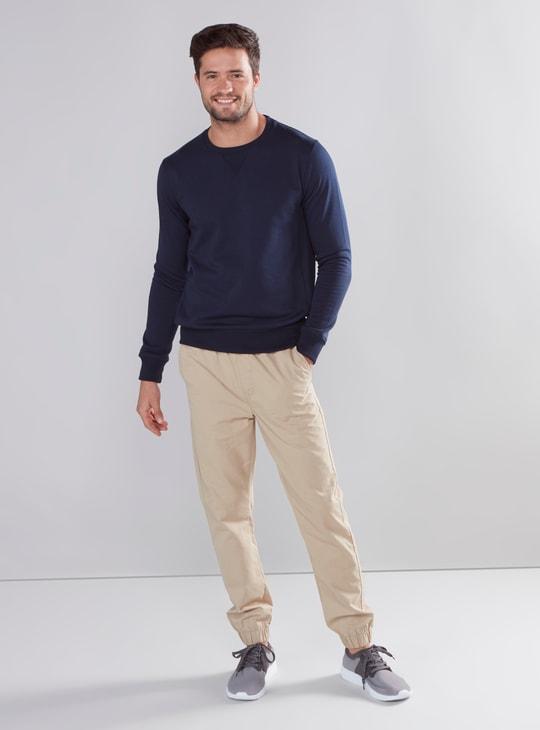 Plain Jog Pants with 5 Pockets and Drawstring