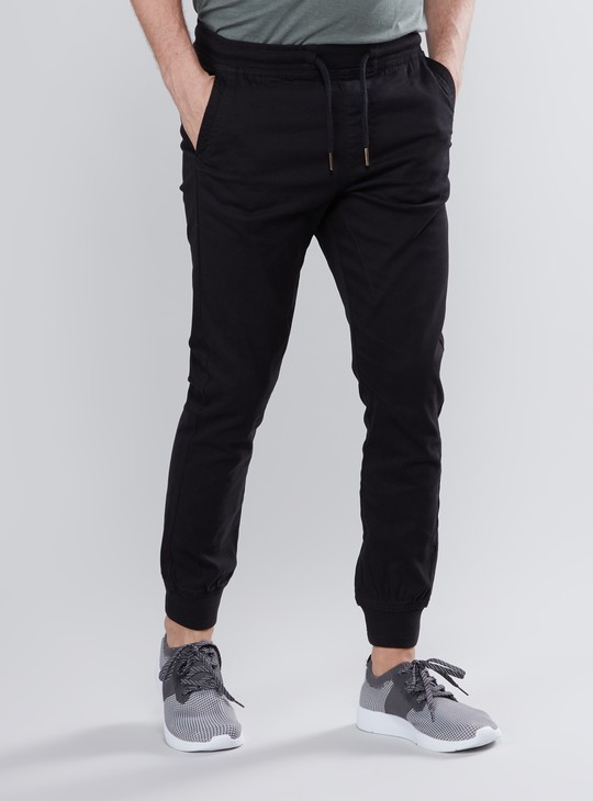 Slim Fit Full Length Joggers with Drawstring Closure