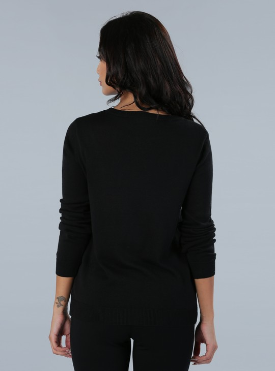 Embellished Long Sleeves Sweatshirt