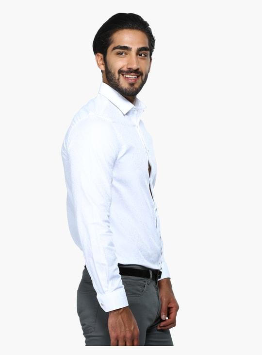 Textured Long Sleeves Formal Shirt in Regular Fit