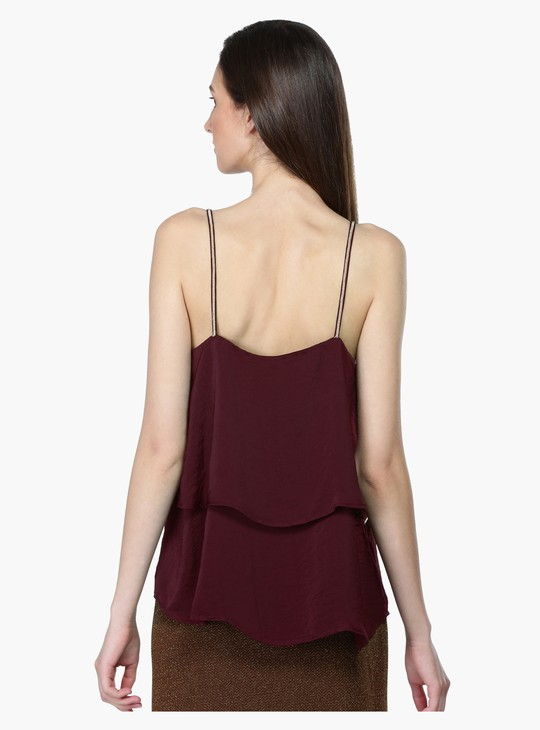 Double Layer Top with Spaghetti Straps