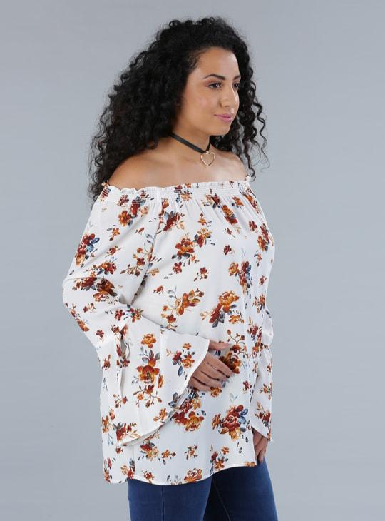 Floral Print Off-Shoulder Top