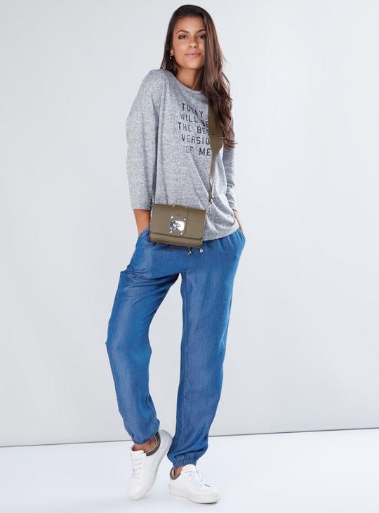 Pocket Detail Harem Pants with Elasticised Waistband