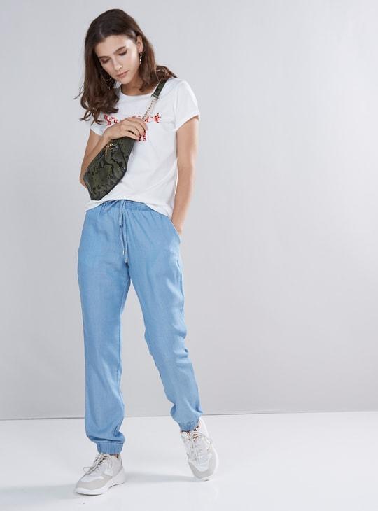 Jog Pants with Pocket Detail and Drawstring Closure