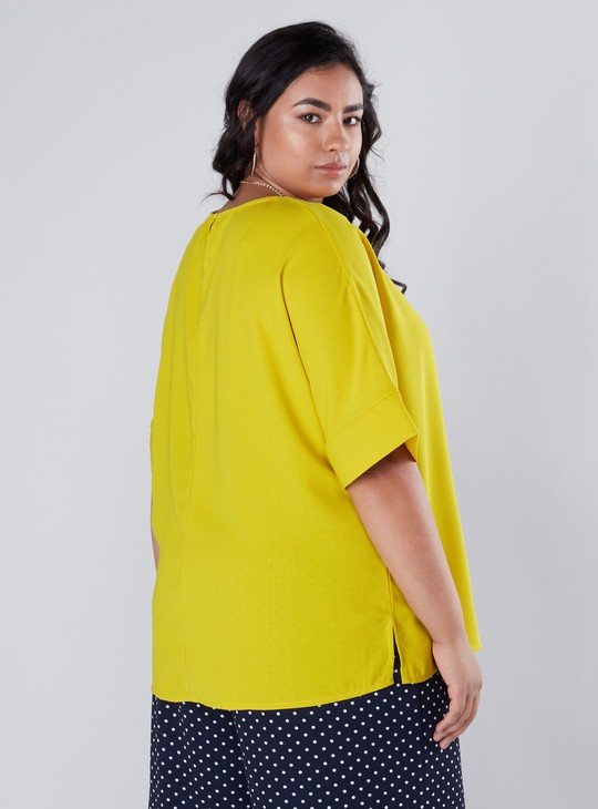 Top with Short Sleeves and Round Neck