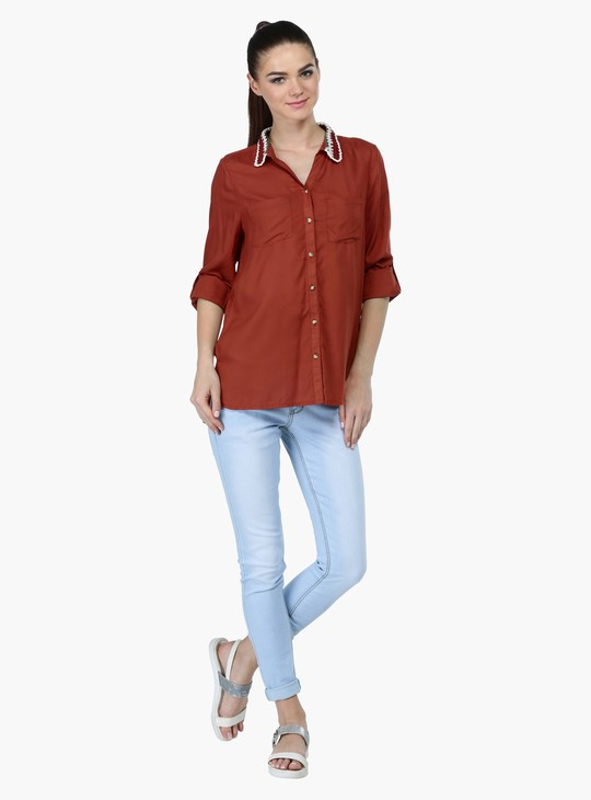 Roll-Up Sleeves Shirt in Regular Fit