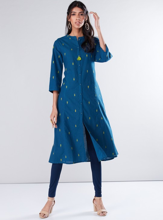 Printed  Tunic with 3/4 Sleeves
