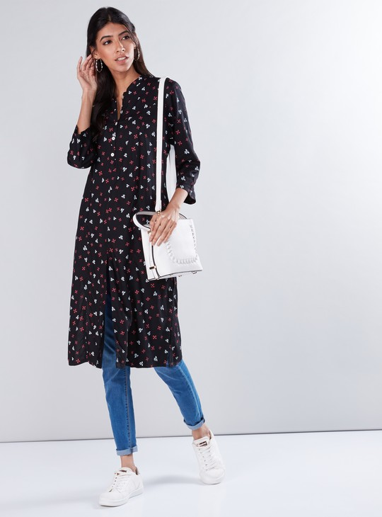 Printed  Tunic with Front Slit