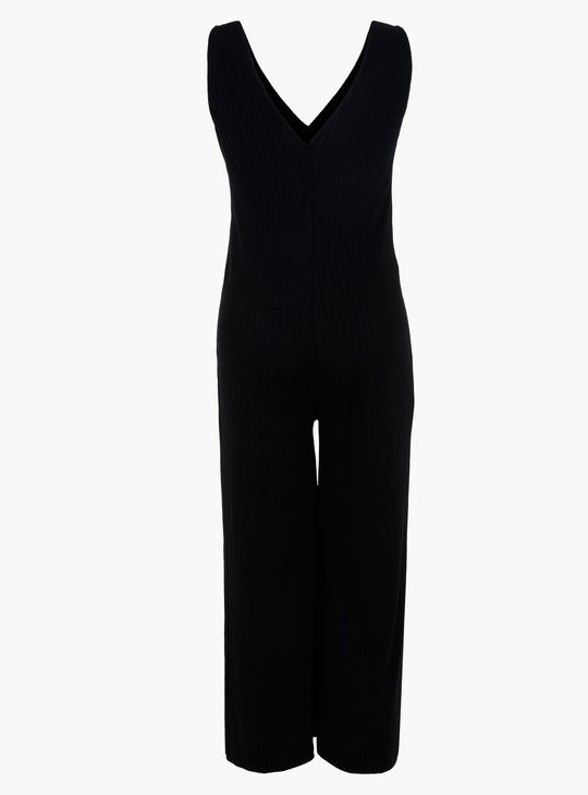 Maternity Knitted Sleeveless Jumpsuit