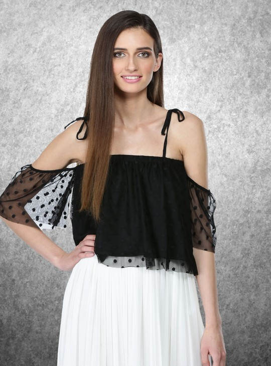 Off Shoulder Top Spaghetti Straps