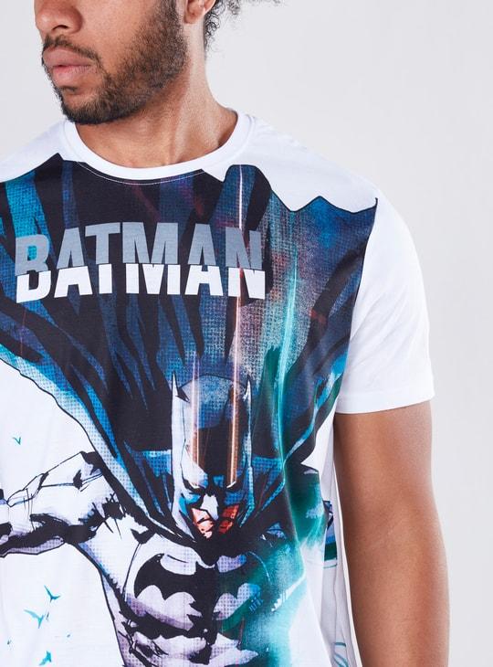 تيشيرت بقصّة عادية وأكمام قصيرة وطبعات باتمان