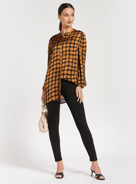 Mid-Rise Full Length Pants