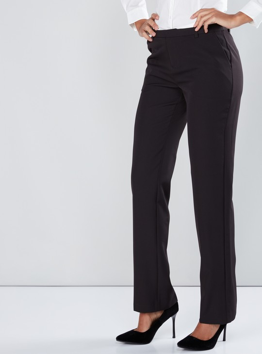 Full Length Trousers with Pocket Detail in Skinny Fit