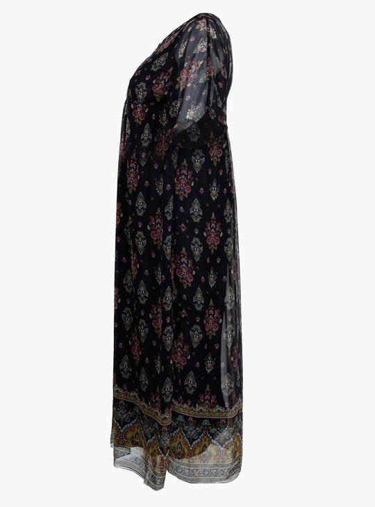 Plus Size Printed Short Sleeves Dress