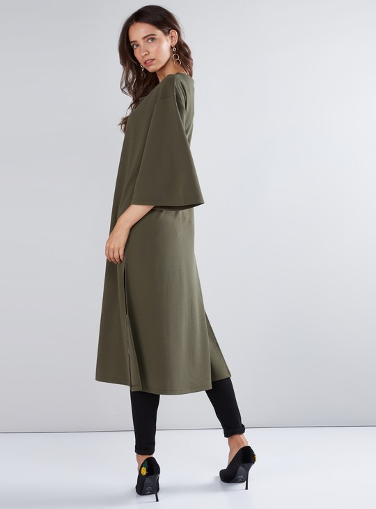 Long Sleeves Tunic with Eyelet Detail