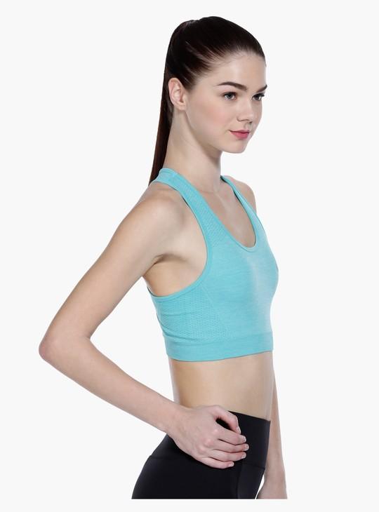 Seamless Crop Top with Round Neck and Racerback