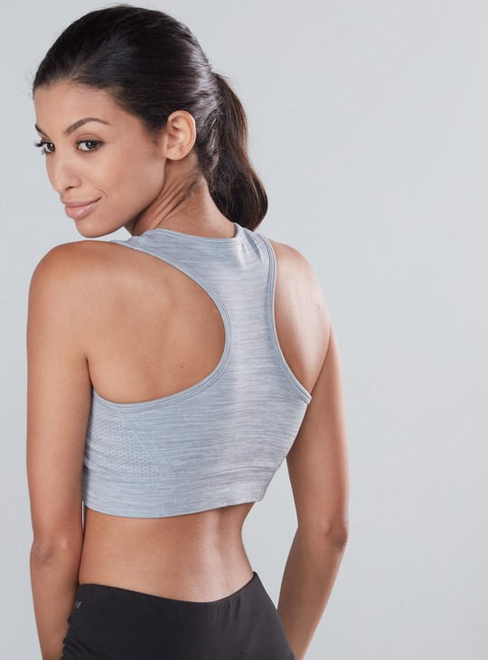 Textured Sports Bra with Racerback