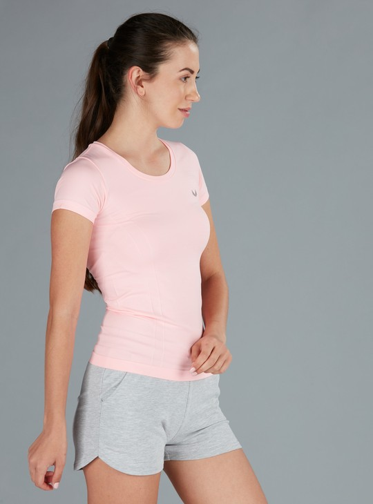 T-Shirt with Short Sleeves and Round Neck