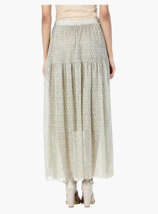 Printed A-Line Maxi Skirt