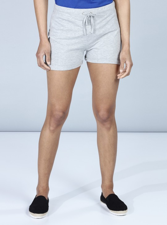 Straight Fit Shorts with Drawstring