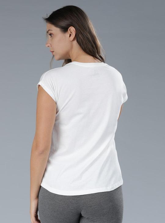 Printed Cap Sleeves T-Shirt
