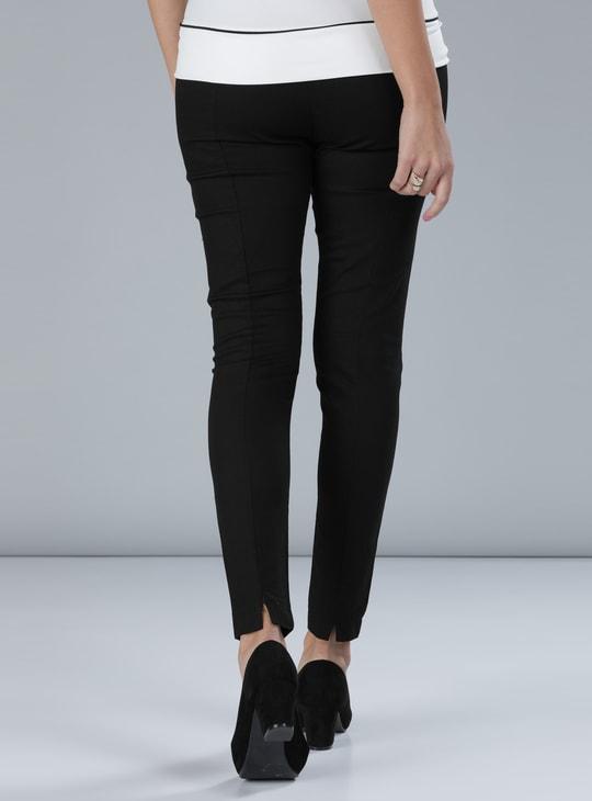 High-Waist Pants with Elasticised Waistband