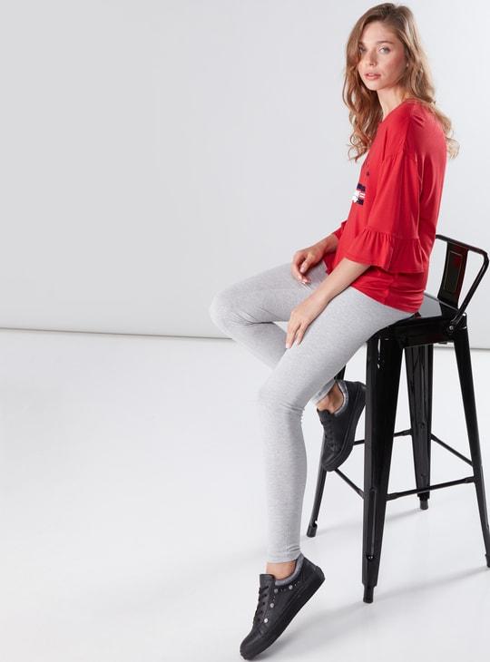 Full Length Leggings with Elasticised Waistband