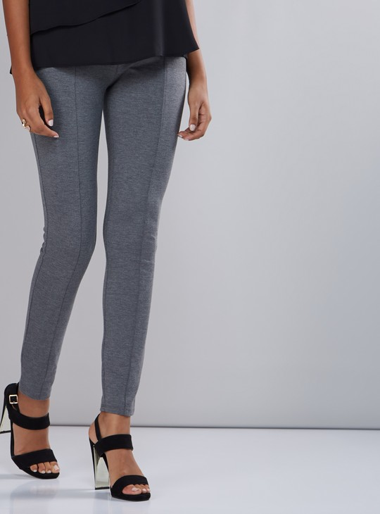 Full Length Ponte Leggings with Stitch Detail