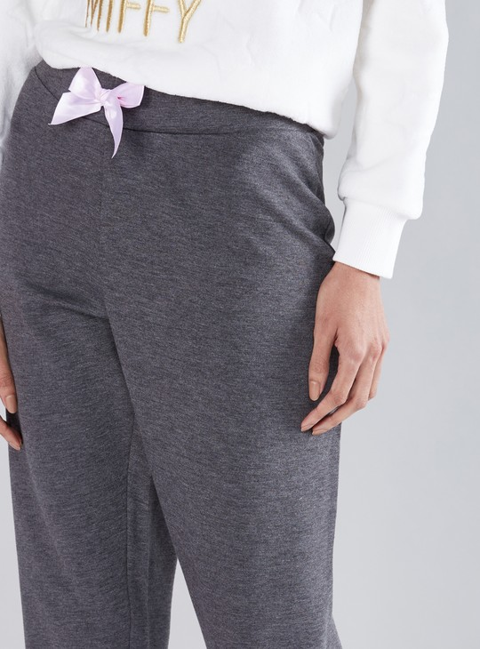 Textured Jog Pants with Elasticised Waistband