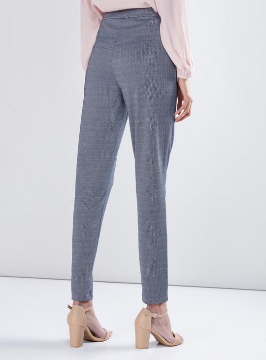 Chevron Pants with Pocket Detail
