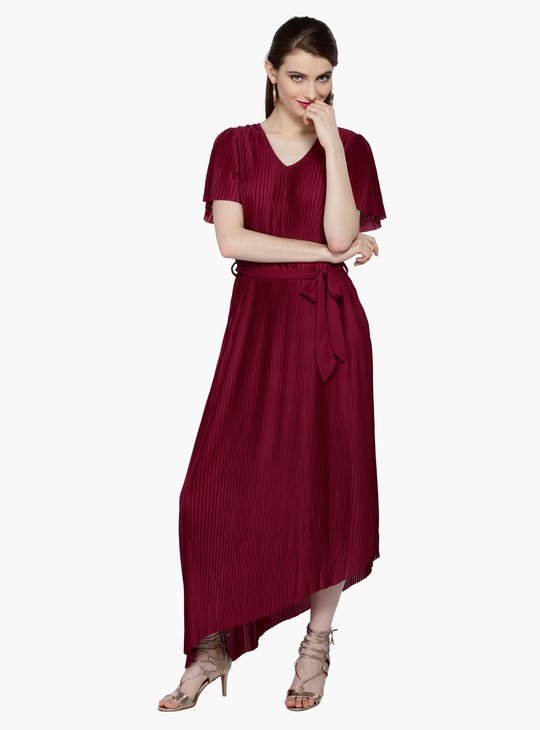 Short Sleeves Asymmetric Dress