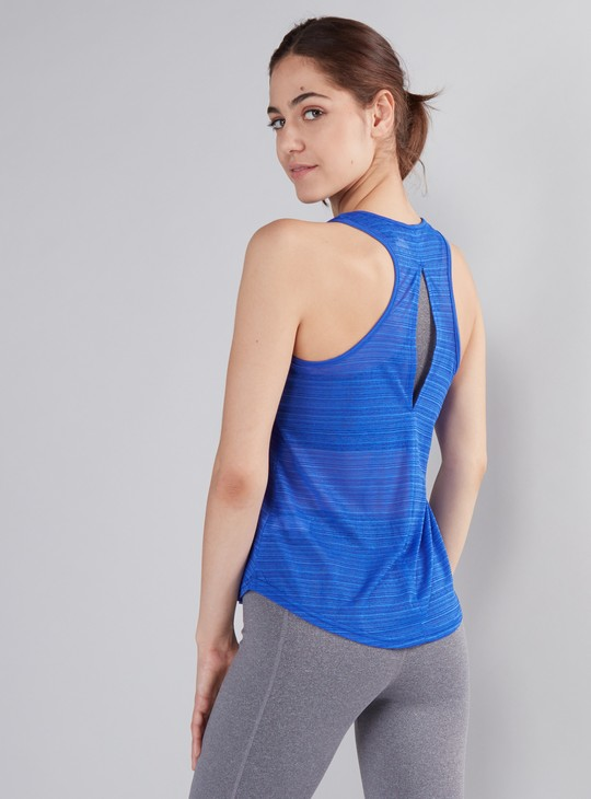 Textured Vest with Racer Back