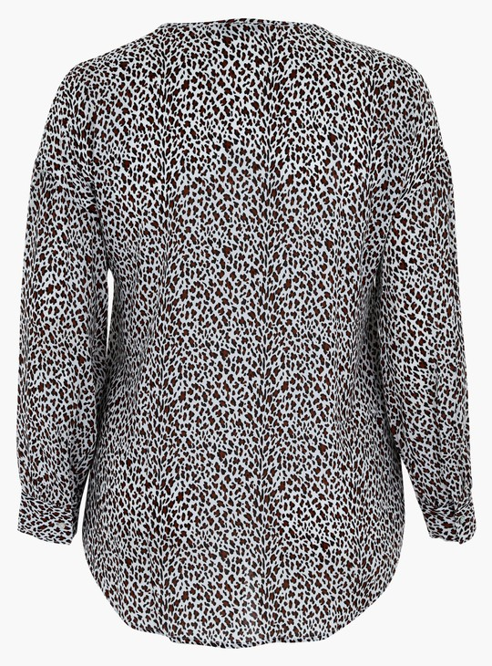 Printed Top with Long Sleeves