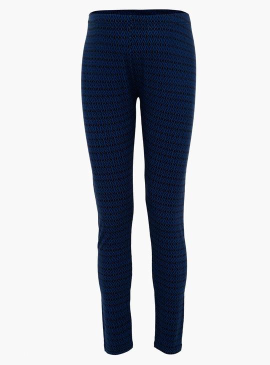Plus Size Printed Full Length Leggings