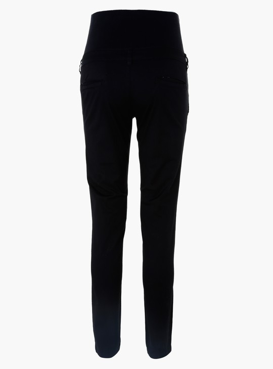 Maternity High Belly Chino Pants in Skinny Fit