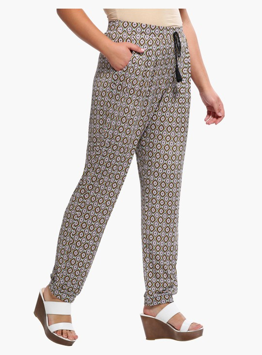 Printed Jog Pants with Drawstrings