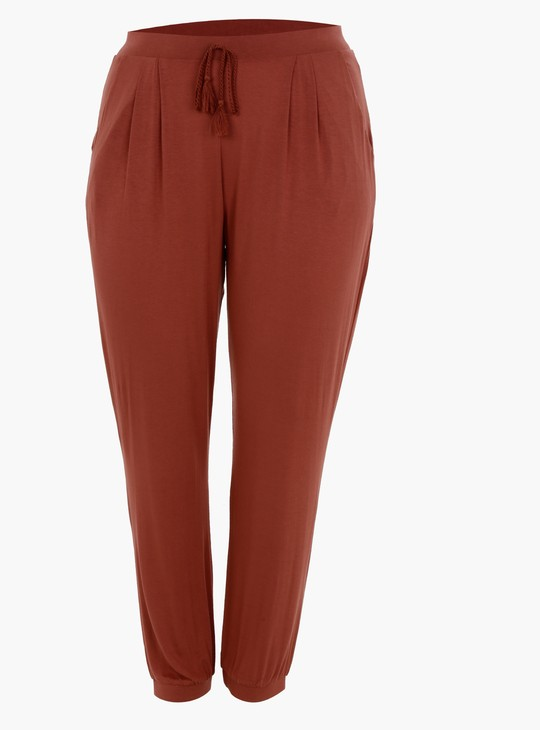 Mid-Rise Pants with Straight Fit