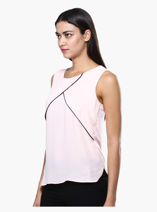 Sleeveless Round Neck Formal Top