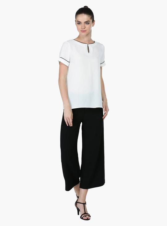 Woven Culottes with Zippered Closure