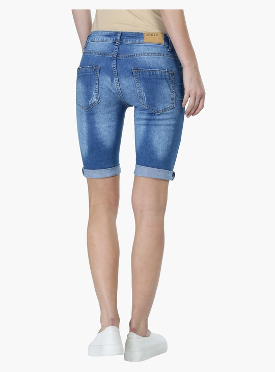 Knee Length Skin Fit Shorts