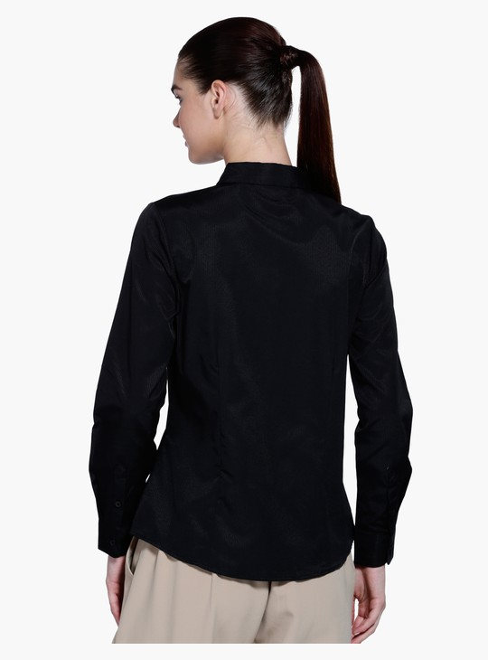 Collared Shirt with Long Sleeves