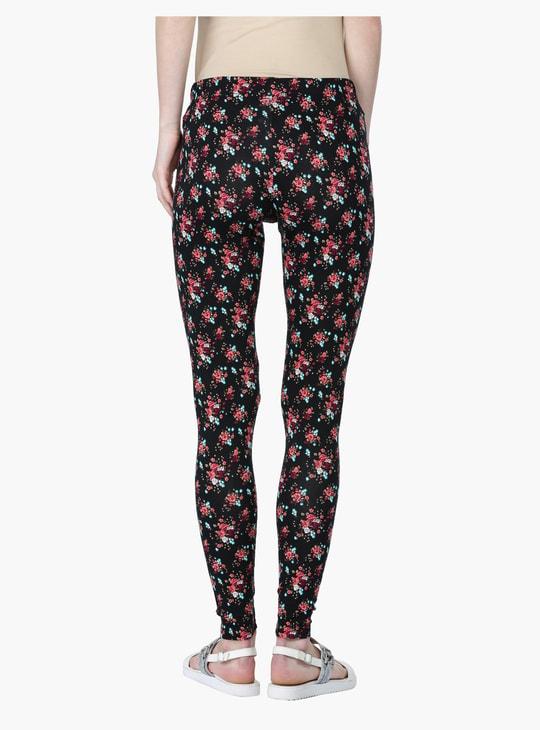 Floral Print Leggings in Slim Fit