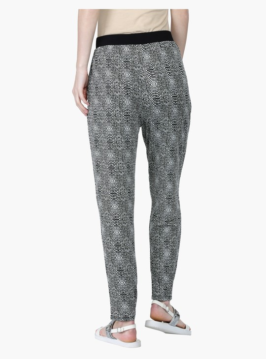 All Over Print Harem Pants with Elasticised Waistband