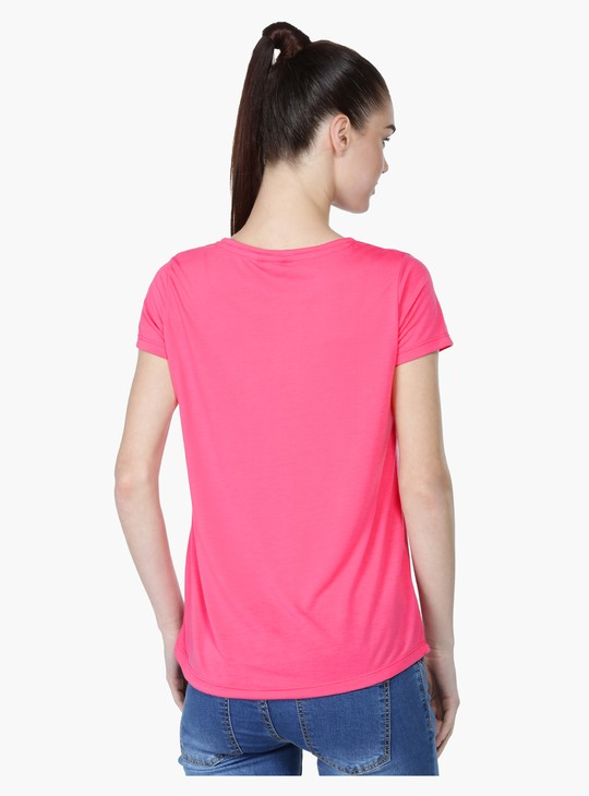 Short Sleeves T-Shirt with Tassels