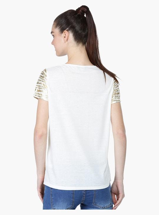 Foil Print Short Sleeves T-Shirt