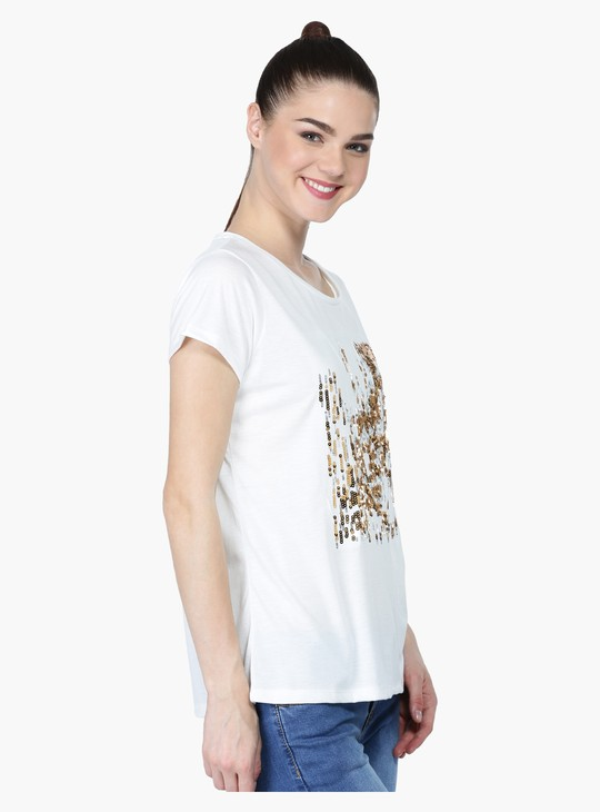 Short Sleeves T-Shirt with Round Neckline