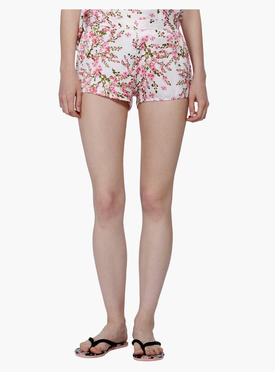Printed V-Neck Top and Shorts Set